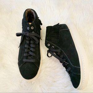 UGG Cali Sneaker High Fringe Suede Sneaker